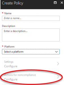 Create Intune Policy